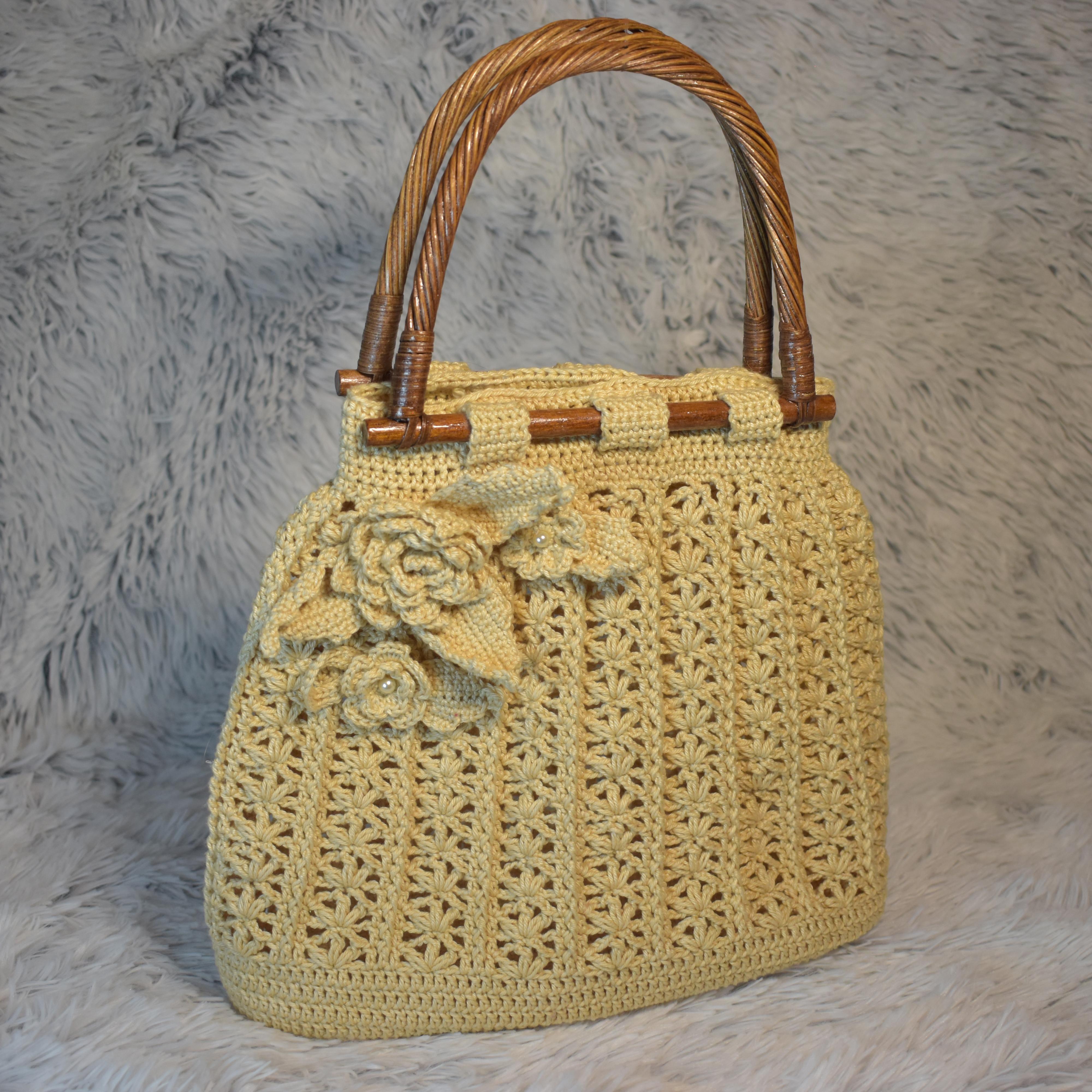 Letní kabelka s bambusovými uchy 97724a00540